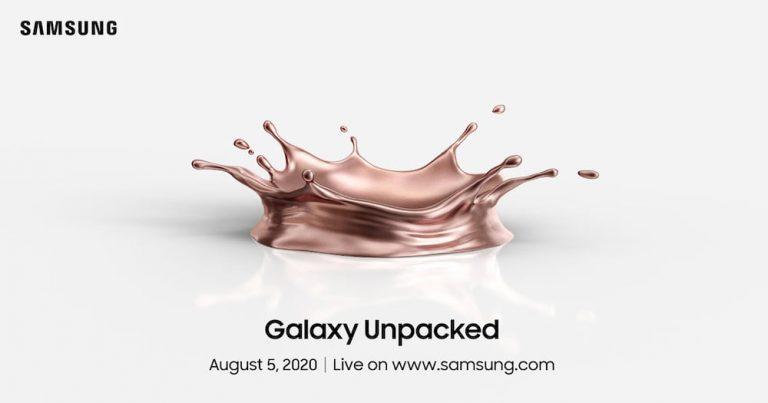 Samsung Galaxy Note20 要来啦!Galaxy Unpacked 2020 定于 8 月 5 日展开