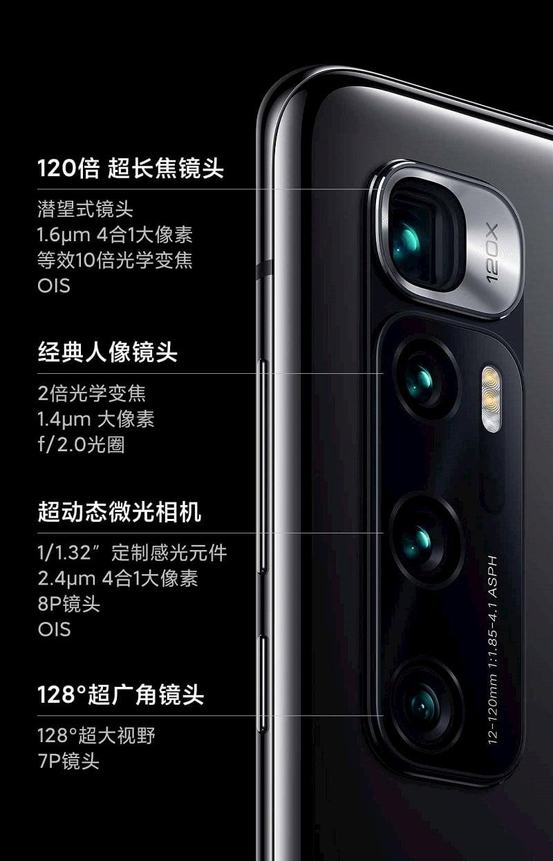 小米 10 至尊纪念版相机规格·