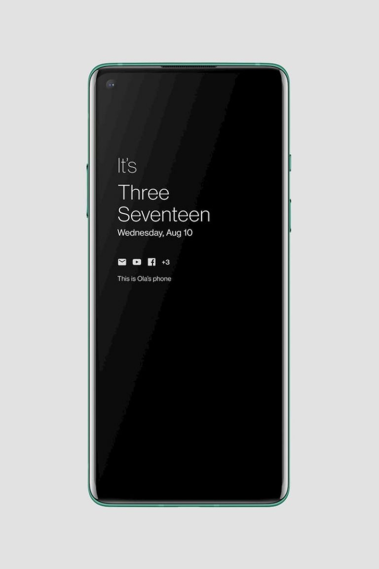 OxygenOS 11 Always On Display 界面
