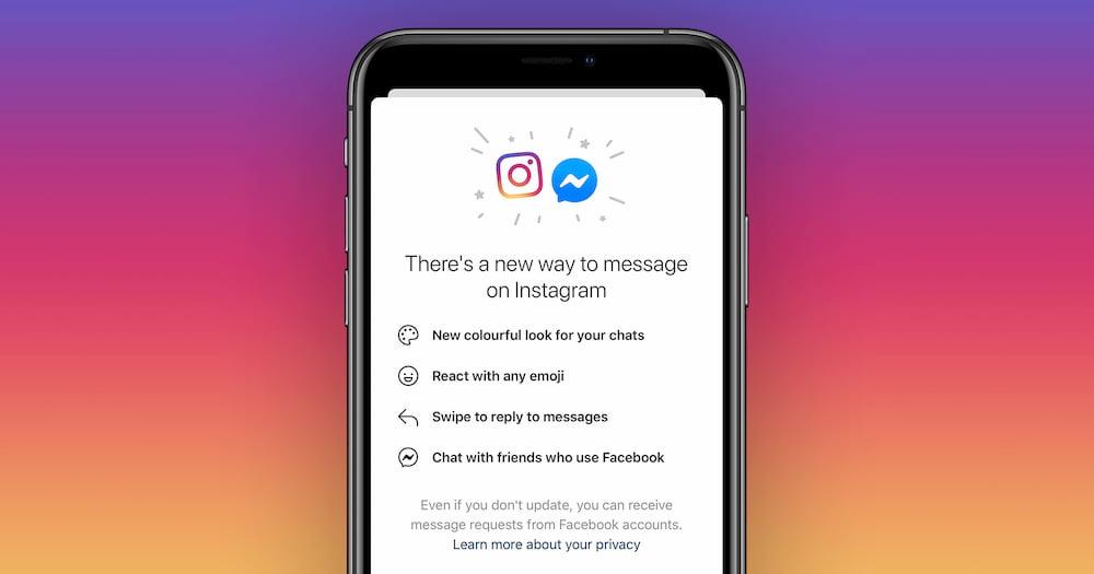 Instagram 与 Messenger 实现整合,未来可在 Instagram 向 Facebook 好友发送消息