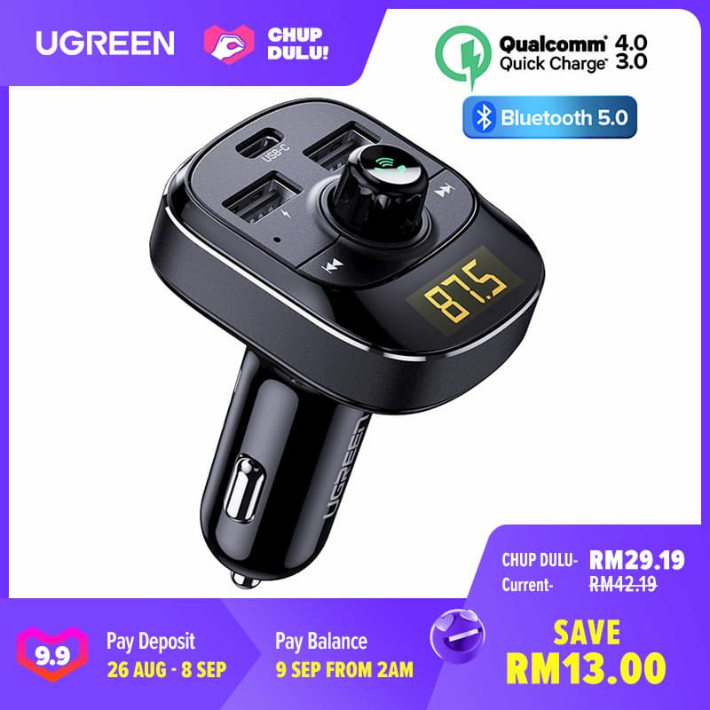UGREEN 18W USB PD Car Charger / FM Modulator