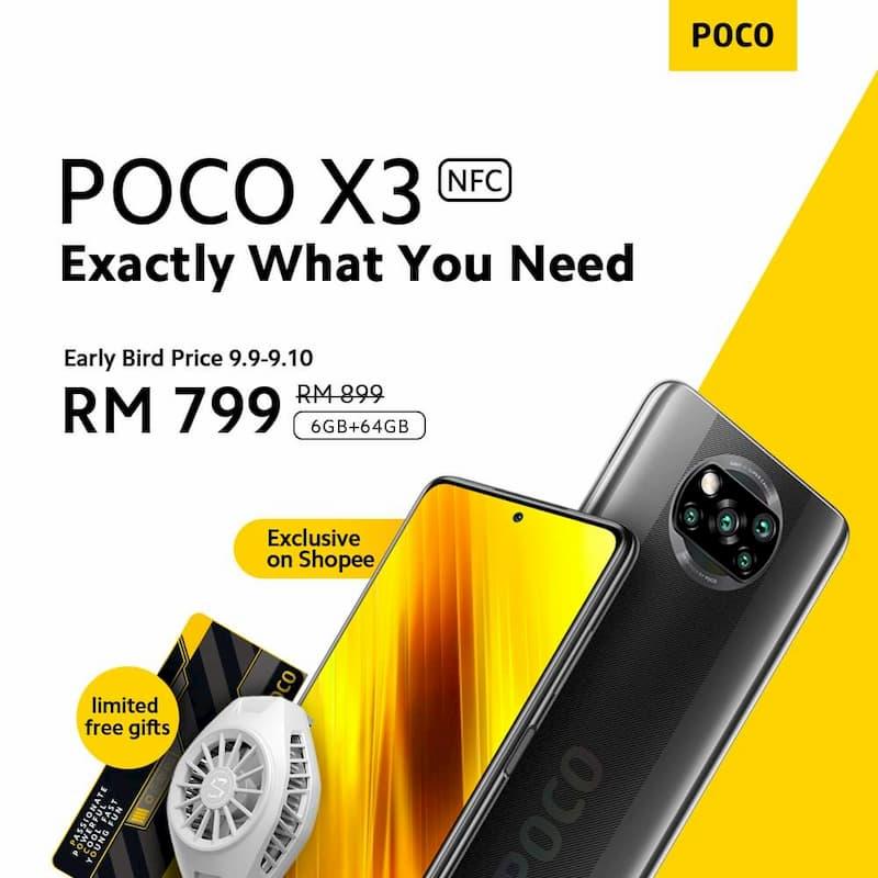 POCO X3 6+64GB 马来西亚价格