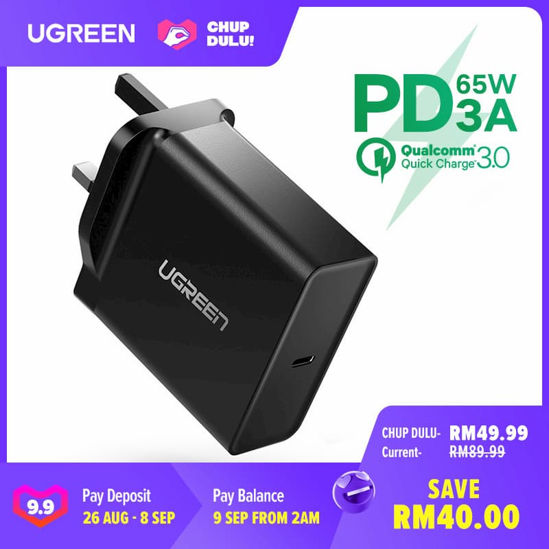 UGREEN 65W USB Power Delivery Wall Charger