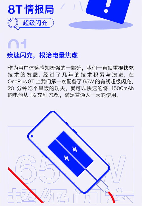 OnePlus 8T Warp Charge 65 解析