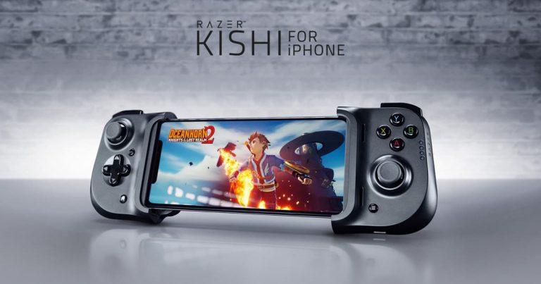 iPhone 专属游戏手柄——  Razer Kishi for iPhone,游戏操控低延迟,可边充边玩,售价 RM469