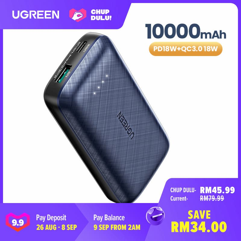 UGREEN 18W USB PD Power Bank