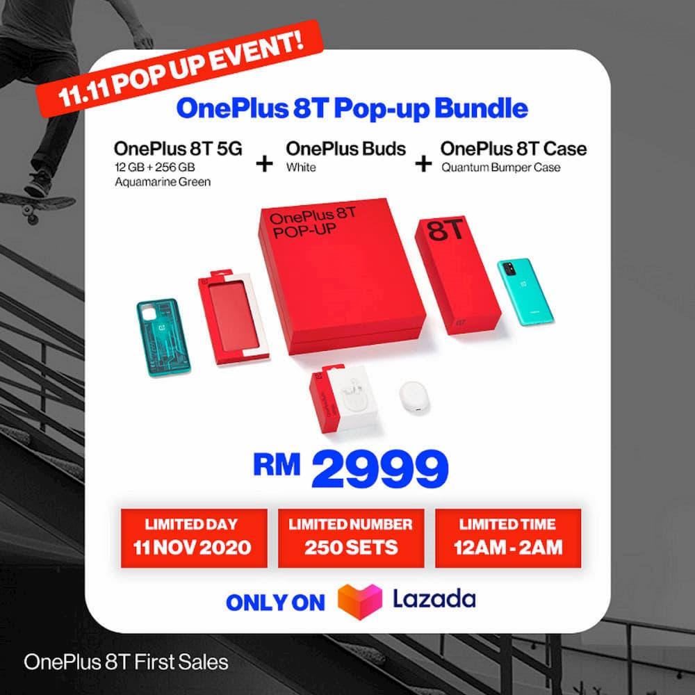 OnePlus 8T Pop-Up Bundle (12+256)