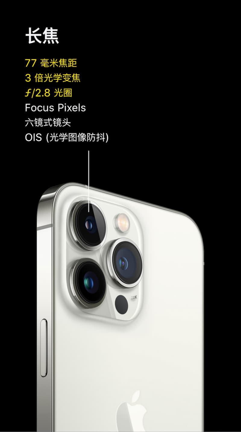 iPhone 13 Pro 系列长焦镜头