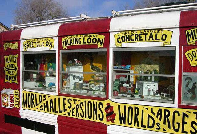 The World's Largest Collection of the World's Smallest Versions of the World's Largest Things — Lucas, Kansas