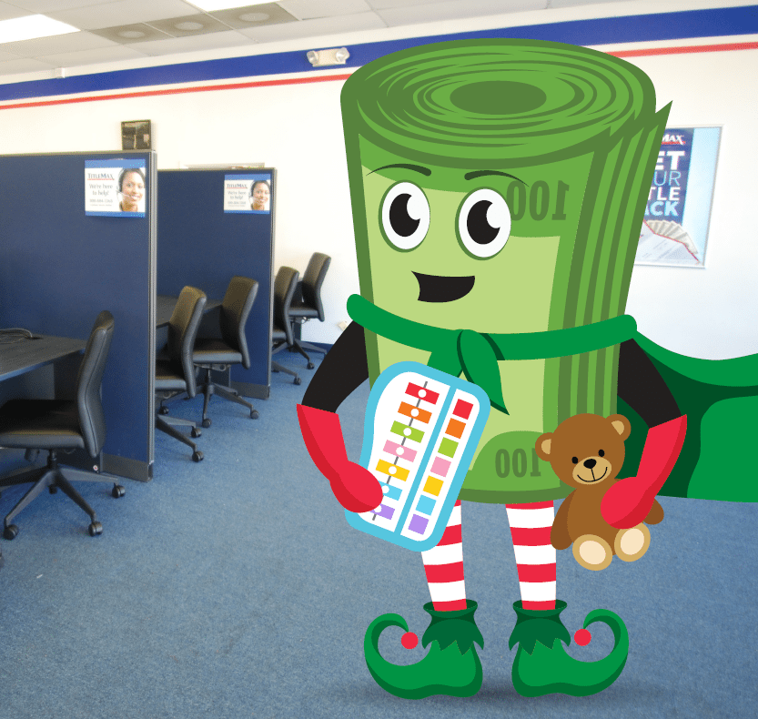 TitleMax Toy Drive with Mighty Title Max