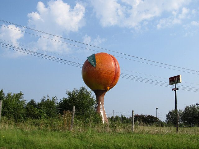 Peachoid — Gaffney, South Carolina