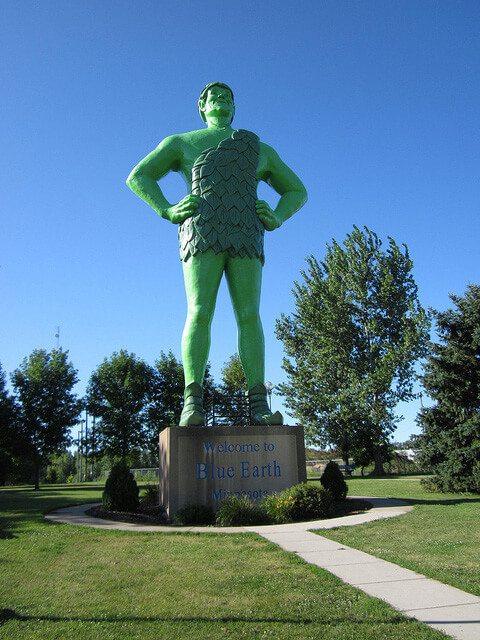 Jolly Green Giant — Blue Earth, Minnesota