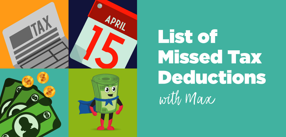 List of Missed Tax Deductions