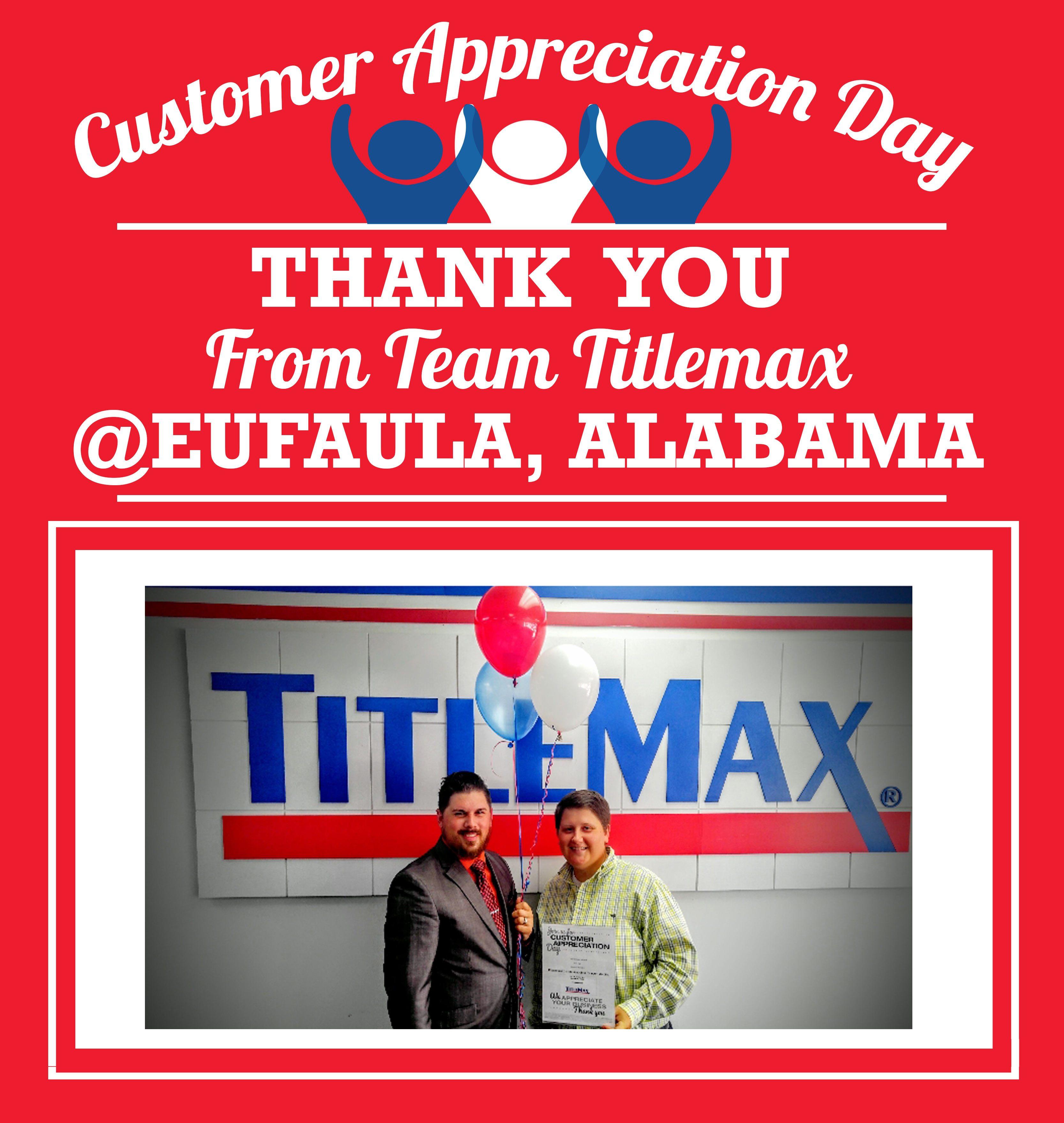 A Big Thank You Goes Out to Eufaula, Alabama!