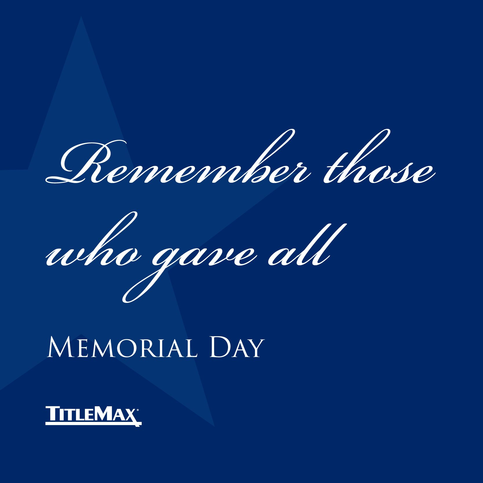 Memorial Day is a Time to Remember