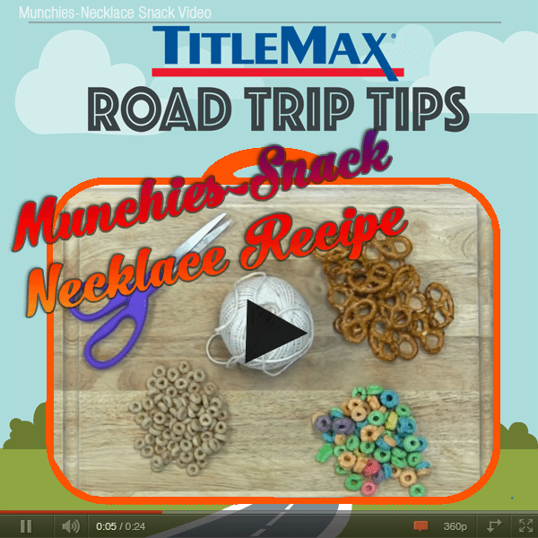 Munchies-Necklace Snack Recipe [Video]