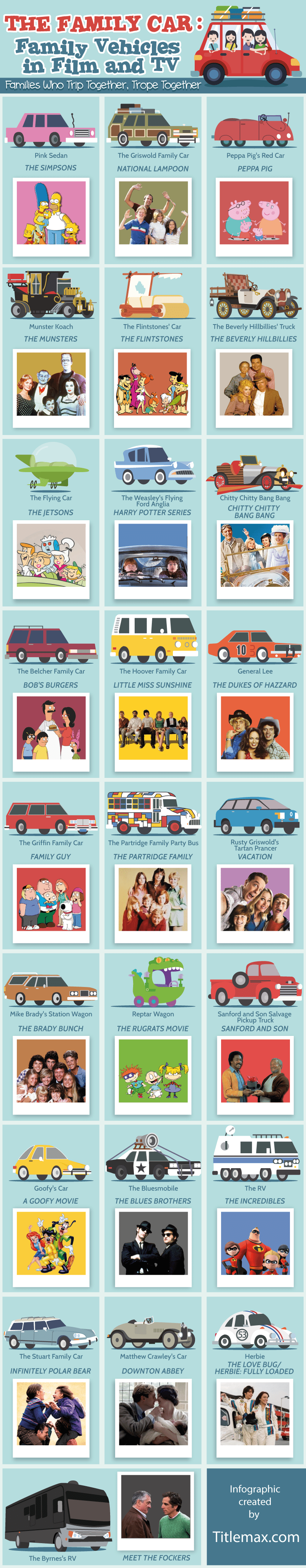Famous Family Cars in Comedy TV and Film