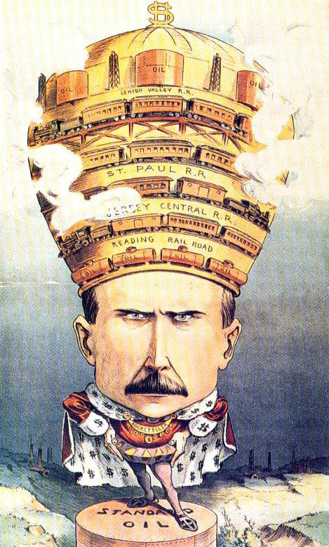 Cartoon of JDRockefeller as King