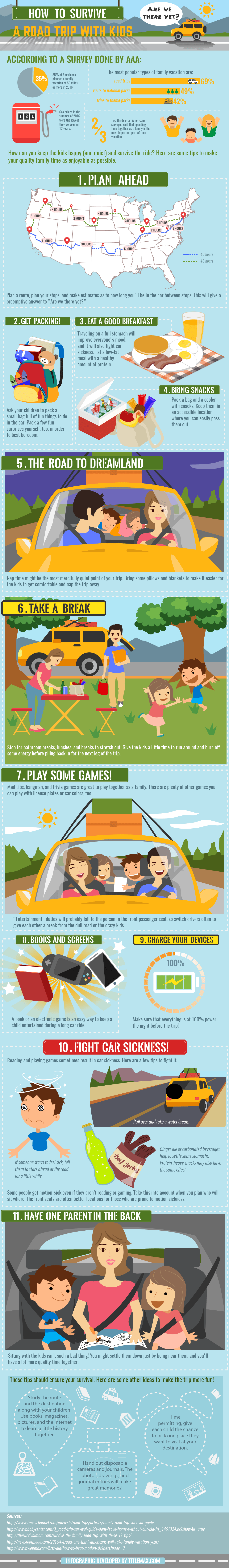 Road Trip Survival Guid with Young Kids [Infographic] - TitleMax Title Loans