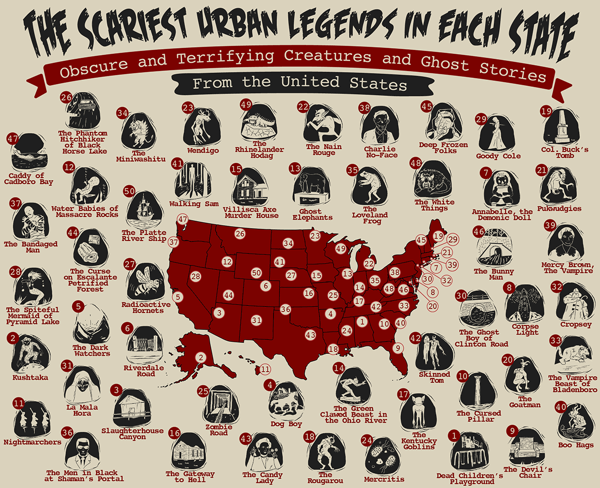 The Scariest Urban Legends in Each State: Terrifying
