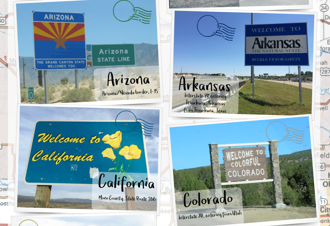 Welcome Signs from the 50 States Across America [Infographic]