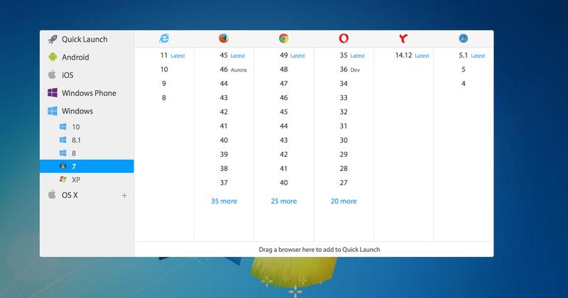 Browserstack choose emulator