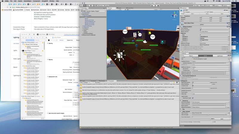 Virtual Reality Development Screenshot