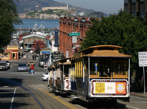We will be taking in some of the sights of San Francisco on a cable car.