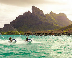 Jet skis all around the south pacific waters!