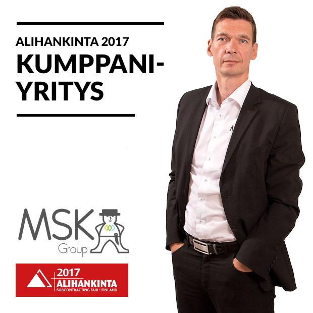 Alihankinta 2017 -messujen kumppaniyritys on MSK Group