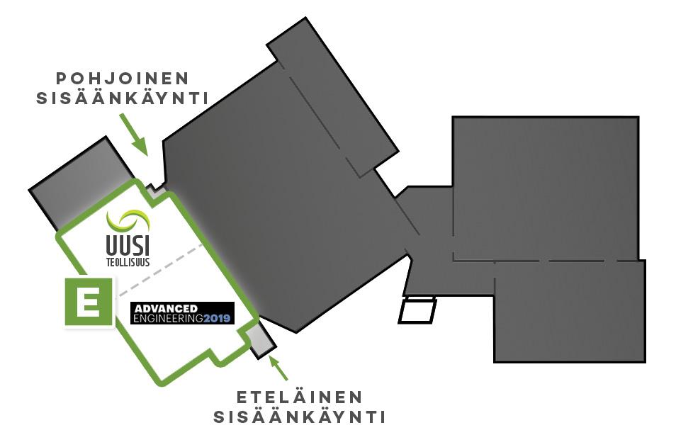 Uusi Teollisuus -messujen pohjakartta