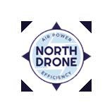 Verkosto-messujen Smart Network -alueen näytteilleasettaja North Dronen logo