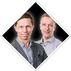 Verkosto-messujen puhujat Jani Linna-Aro ja Pasi Hopponen, Orbis Oy