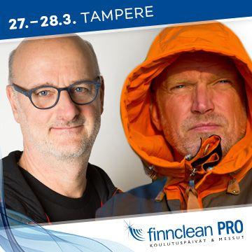 Finnclean PRO -koulutuspäivien puhujat Henrik Dettman ja Pata Degerman