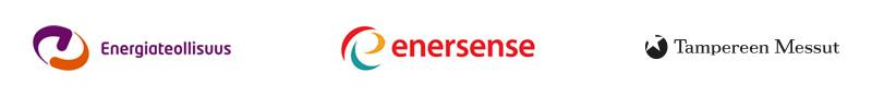 Verkoston rekrypäivän järjestäjien Energiateollisuden, Enersensen ja Tampereen Messujen logot