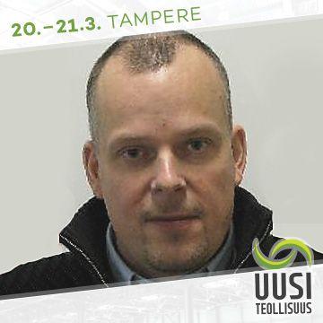 Uusi Teollisuus -messujen puhuja Juha-Matti Salminen