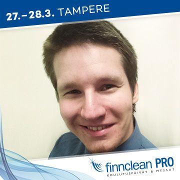 Finnclean PRO -messujen puhuja Samuli Hietalahti