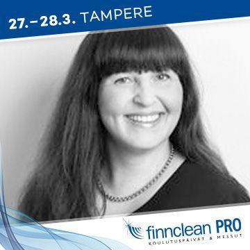 Finnclean PRO -messujen puhuja Tiina Holopainen