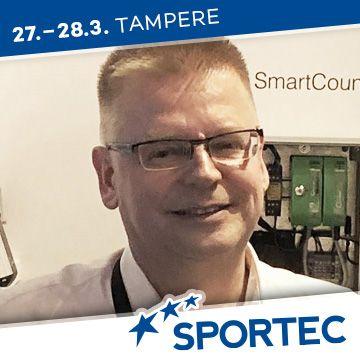 Liikuntapaikka Sportec -messujen puhuja Petri Laitinen