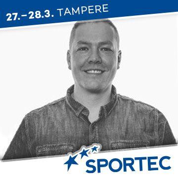 Liikuntapaikka Sportec -messujen puhuja Erno Väyrynen