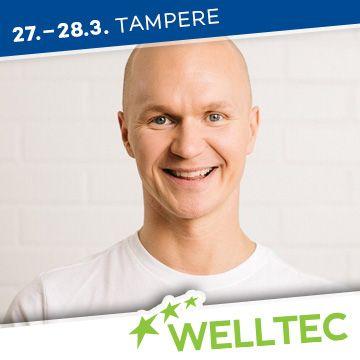 Liikuntapaikka Welltec -messujen puhuja Jarno Tynkkynen
