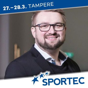 Liikuntapaikka Sportec -messujen puhuja Petteri Saarinen