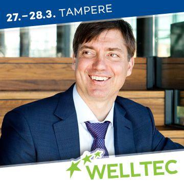 Liikuntapaikka Welltec -messujen puhuja Mika Aaltonen