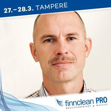 Finnclean PRO -messujen puhuja Juha Issakainen