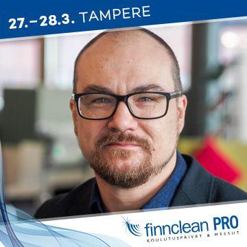 Finnclean PRO -messujen puhuja Markus Mannila