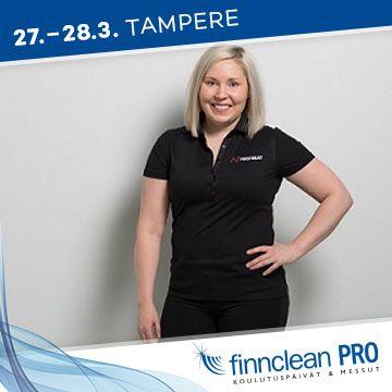 Finnclean PRO -messujen puhuja Niina Kartsunen