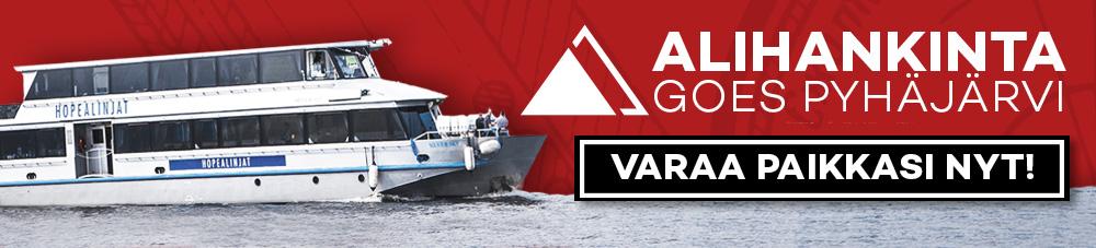 Alihankinta Goes Pyhäjärvi -tapahtuman mainoskuva, jossa laiva