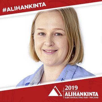 Alihankinta-messujen puhuja Sanna Teiskonen
