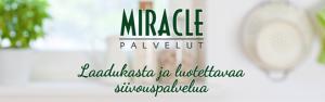 Kuvassa Miracle-palveluiden logo