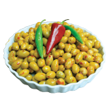 Green Moroccan Olive With Chili - 250 g